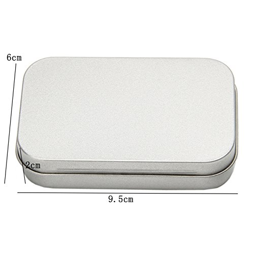 Tangc Small Metal Tin Silver Flip Storage Box Case Organizer For Money Coin Candy Key by Tangc (Image #1)