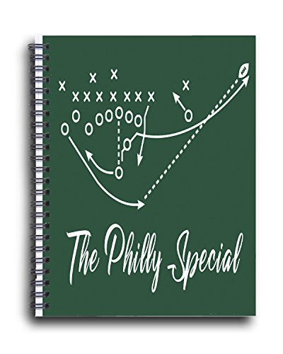 Football Eagles Card Philadelphia Nfl (Personalized Corner Philadelphia Eagles Spiral Ring Bound Notebook - Super Bowl Football NFL Philly Special - Back to School Must)