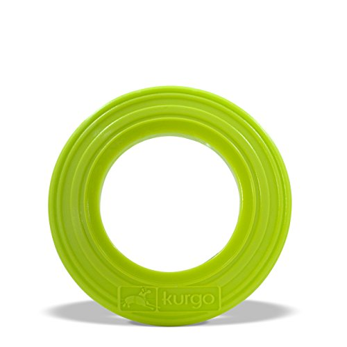 Kurgo Dog Toy Tossing Disc(TM) for Dogs, Courtside Green, Mini