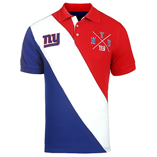New York Giants NFL Men's Diagonal Stripe Polo ()