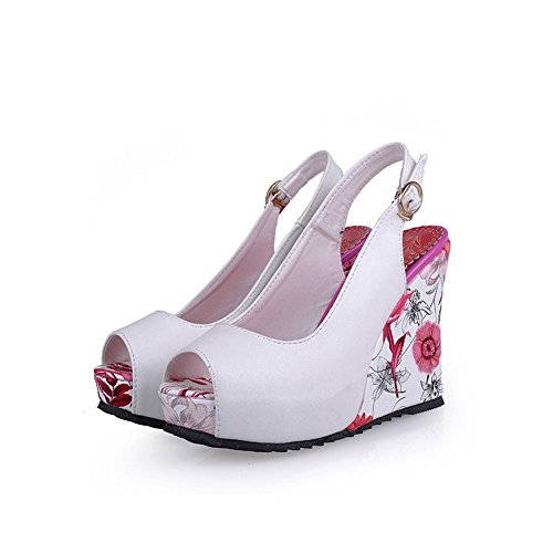 1TO9 Womens Engagement Assorted Color White Soft Material Sandals - 8 B(M) US H5vpd2a