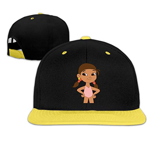 DRE2584WWF Jake and The Never Land Pirates Izzy Boys and Girls Hip-Hop Baseball Cap Adjustable Cap Yellow ()