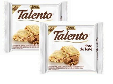 Garoto - Talento - Dulce de Leche - 3.53 Oz (PACK OF 02) | Doce de leite - 100g (Garoto Candy)