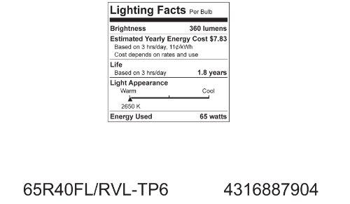 GE Lighting 87904 65-Watt BR40 Reveal Floodlight, 1-Pack by GE Lighting (Image #2)
