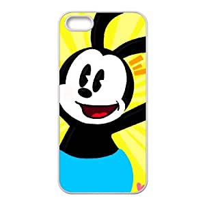 Disney Trolley Troubles Character Oswald The Lucky Rabbit iphone 5 5S Cell Phone Case White Phone Accessories JV15755G