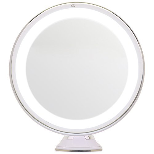 Mirrorvana 8-Inch Diameter 5X Magnifying LED Lighted Vanity Makeup Mirror