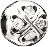 Authentic Chamilia RETIRED 2011 Limited Edition Infinite Love CZ Bead * Sterling Silver 2025-0761