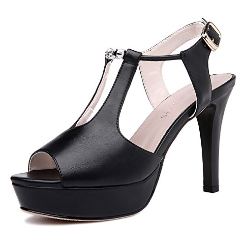 Hauts Taiwan Talons Le Chaussures Bouche À Très Chaussures Imperméables SHOESHAOGE EU35 UK131 Bien Avec Poisson Sandales Femmes q71YP