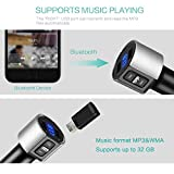 Baile Bluetooth FM Transmitter for Car, Wireless Bluetooth FM Radio Adapter Car Kit with Hands-Free Calling and 2 Ports USB Charger