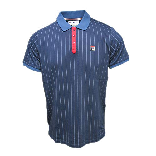 - Fila Mens BB1 Peacoat Chinese Red Polo Shirt - S