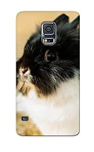 New Arrival Case Cover RGlZkMH1645TxWmA With Design For Galaxy S5- Fluffy Rabbit Best Gift Choice For Lovers