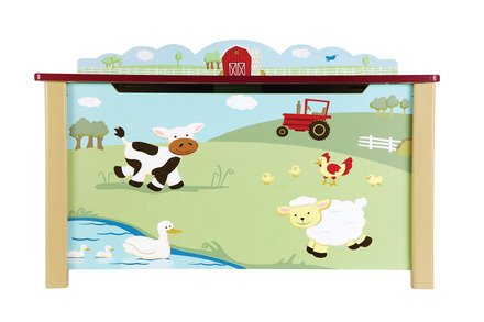 Farm Friends Toy Box - Guidecraft Infant Toy Box