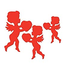 Printed Cupid Cutouts Party Accessory (1 Count) (6 Per Package) Pkg/3