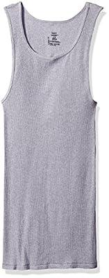 Hanes Men's 4-Pack Assorted A-Shirt