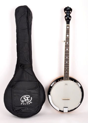 SX Country 5-String Banjo with Closed Back and Carry Bag by SX