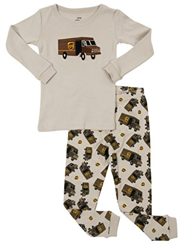 4b3349a31 Leveret UPS Truck Kids   Toddler Pajamas Boys Girls 2 Piece Pjs Set ...