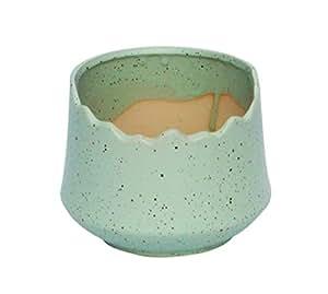 samzary jarrón cerámica jardinería tarros de pépinière tonos de color caramelo botella en encaje, verde