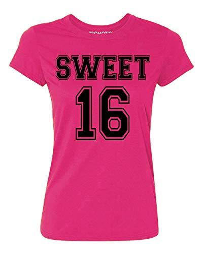 P&B Sweet 16 Birthday Women's T-Shirt, XL, Cyber Pink]()