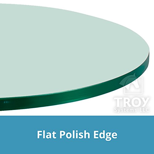 TroySys Round Glass Table Top, Custom Annealed Clear Tempered, 3/8'' Thick Glass with Flat Polished Edge For Dining Table, Coffee Table, Home and Office Use, 34''L by TroySys (Image #4)