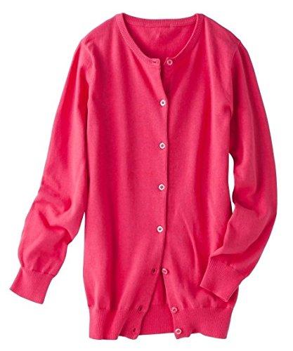 [nissen(ニッセン)] 綿100%長袖クルーネックニットカーディガン(UVカット) 大きいサイズ レディース