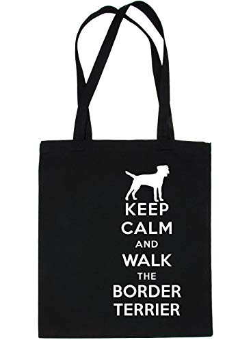 Walk Bag Calm Black Tote Print4u Dog Border Shopping amp; Terrier Keep Ognaq