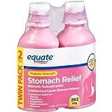 Equate - Stomach Relief, Regular Strength Pink Liquid (2X 262 mg= 525 mg) 32 fl oz (Compare to Pepto-Bismol)