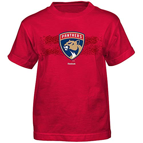Outerstuff NHL Florida Panthers Fractal Camo Short Sleeve Tee, Large/(7), Red