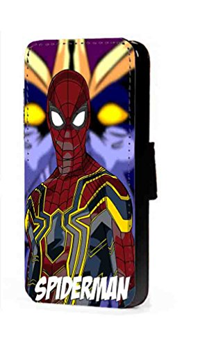 Spiderman Phone Case Marvel Fanart faux leather flip wallet mobile Cover for Samsung Galaxy - Case S3 Galaxy Spiderman Samsung
