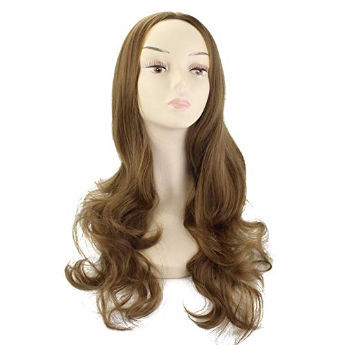 Wig High Temperature Silk With Large Wavy Long Curly Hair ()