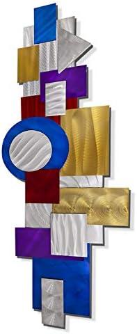 Statements2000 Abstract Art Deco Prismatic Metal Wall Art Sculpture