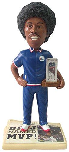 FOCO NBA Philadelphia 76ers Erving J. #6 Legends Newspaper Base Bobble MP Trophy, One Size, Blue by FOCO