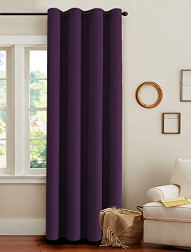 Dark Purple Curtains: Amazon.com