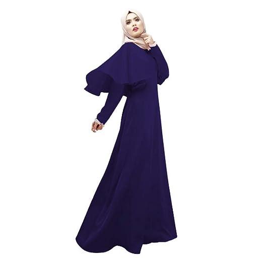 d62d1669bb55d Garish Women's Muslim Plus Size Maxi Dress Casual Long Robe Dubai ...