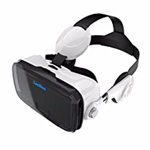 Leelbox Vr Headset 3D VR Glasses Virtual Reality Headset Compatible for 3D Movies Video Games 360 degree Viewing Immersive Fit Smartphone 4.0 -6.0 Inch such as Iphone/Samsung/HTC/LG/Sony with Retail Package-White