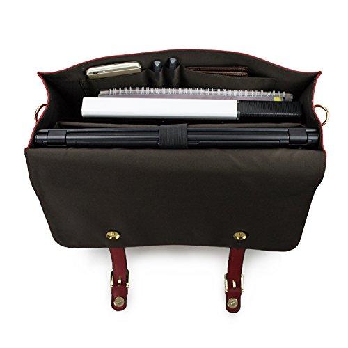 Scolaire Cartable Sac Travail Ordinateur Vintage Travers Cuir Estarer Sac Rouge 15 Imperméable Sac 6