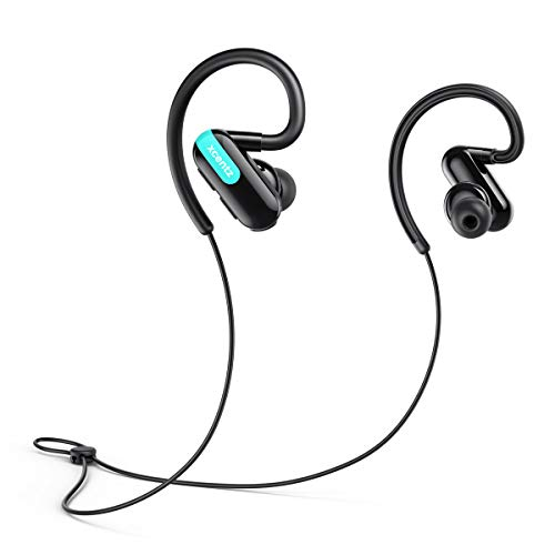 Xcentz Bluetooth Headphones Wireless Sport Earbuds for Running Lightweight Ergonomic Comfort Fit, 13 Hours Playtime Bluetooth 5.0 IPX5 Sweat Resistant Premium Sound Headset 50ft Connect Range