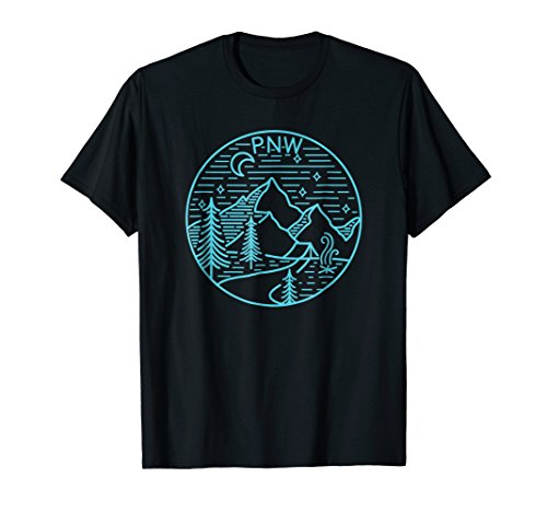 Pacific Northwest Outdoors Trees Mountain T Shirt