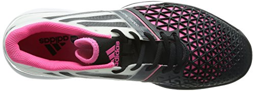 Adidas Roland Garros adiZero Feather 3 All-Court Zapatilla de Tenis Caballero Blanco/Negro/Rosa