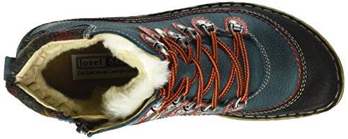 Josef Seibel Kingfisher 12 - Botines de tacón bajo Mujer Multicolor (Schwarz/Kombi 661)