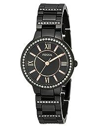 Fossil Women's Virginia ES3610 Black Stainless-Steel Quartz Watch