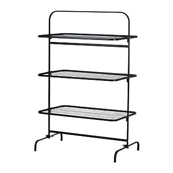 Ikea Wäscheständer ikea mulig wäscheständer 3 ebenen schwarz amazon de küche haushalt