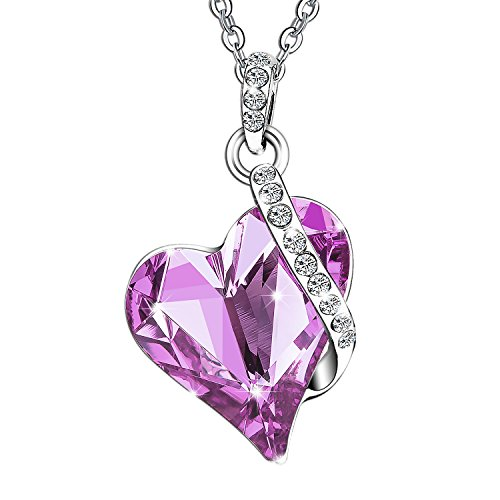 [Menton Ezil Love Heart Fashion Pendant Necklace Made with White Gold Plated & SWAROVSKI Crystal Great to Wear with an Easter] (Cute Teenage Girl Halloween Costumes Ideas)