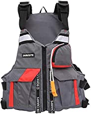 Life Jackets for Adults, Water Sport Boating Jacket for Adults, Adjustable Swimming Buoyancy Fishing Life Jack