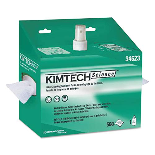 Lens Kimwipes Kimtech Science - Kimtech 34623 Lens Cleaning Station, 8oz Spray, 4 2/5 X 8 1/2, 560 per Box (Case of 4 Boxes)