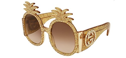 Sunglasses Gucci GG 0150 S- 001 GOLD / BROWN