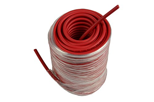 Temco 10 AWG Solar Panel Wire 100' Power Cable Red UL 4703 Copper MADE IN USA PV Gauge by Temco