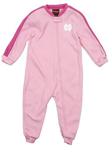 (Outerstuff Notre Dame Fighting Irish NCAA Little Girls Fleece Sleeper - Pink (2T))
