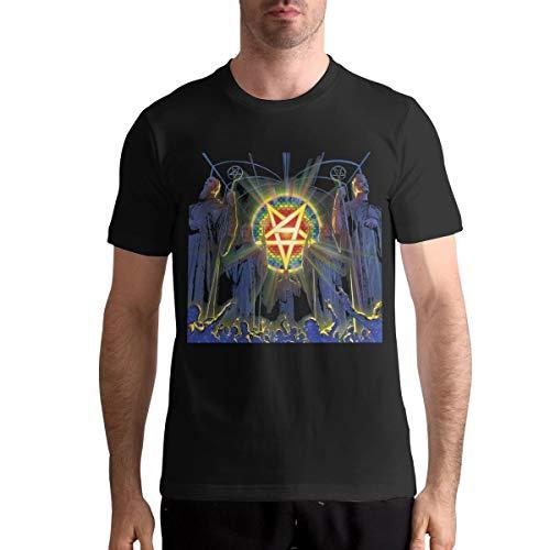 for All Kings Men's Graphic Short Shirt Black