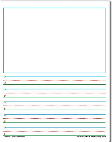(Teacher Created Resources (76540) Smart Start 1-2 Story Paper: 40 sheet tablet)