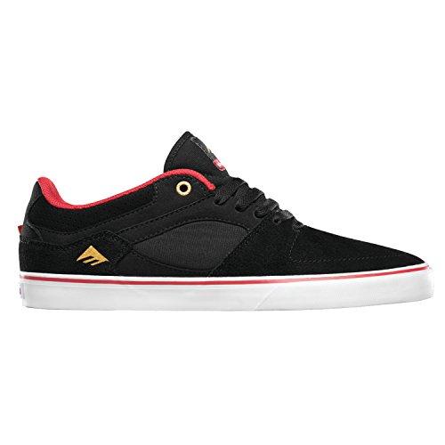 EMERICA Skateboard Shoes HSU LOW VULC CHOCOLATE BLACK/RED/WHITE
